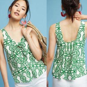 {anthropologie} Maeve Verena tie front blouse